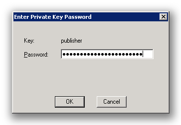 Signcode requesting the private key password